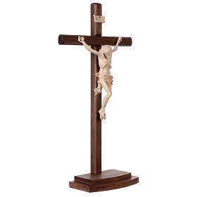 Crucifixo Leonardo cruz com base cera fil ouro s5