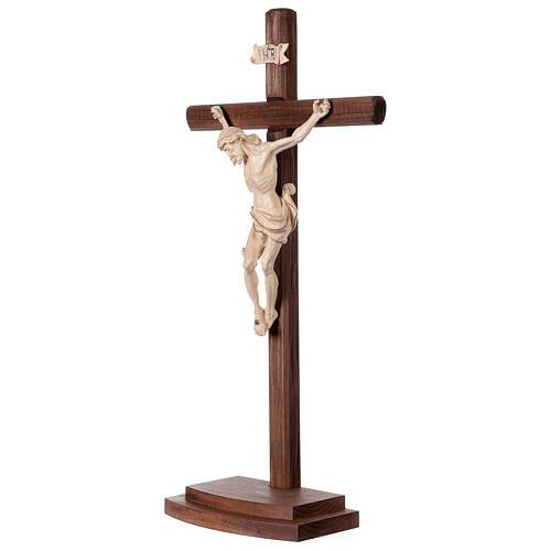 Crucifixo Leonardo cruz com base cera fil ouro 3