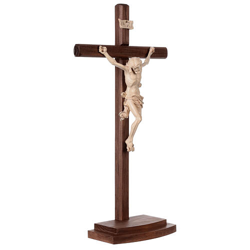 Crucifixo Leonardo cruz com base cera fil ouro 5