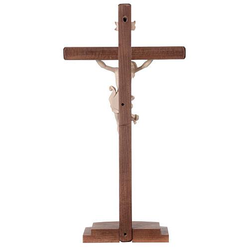 Crucifixo Leonardo cruz com base cera fil ouro 7