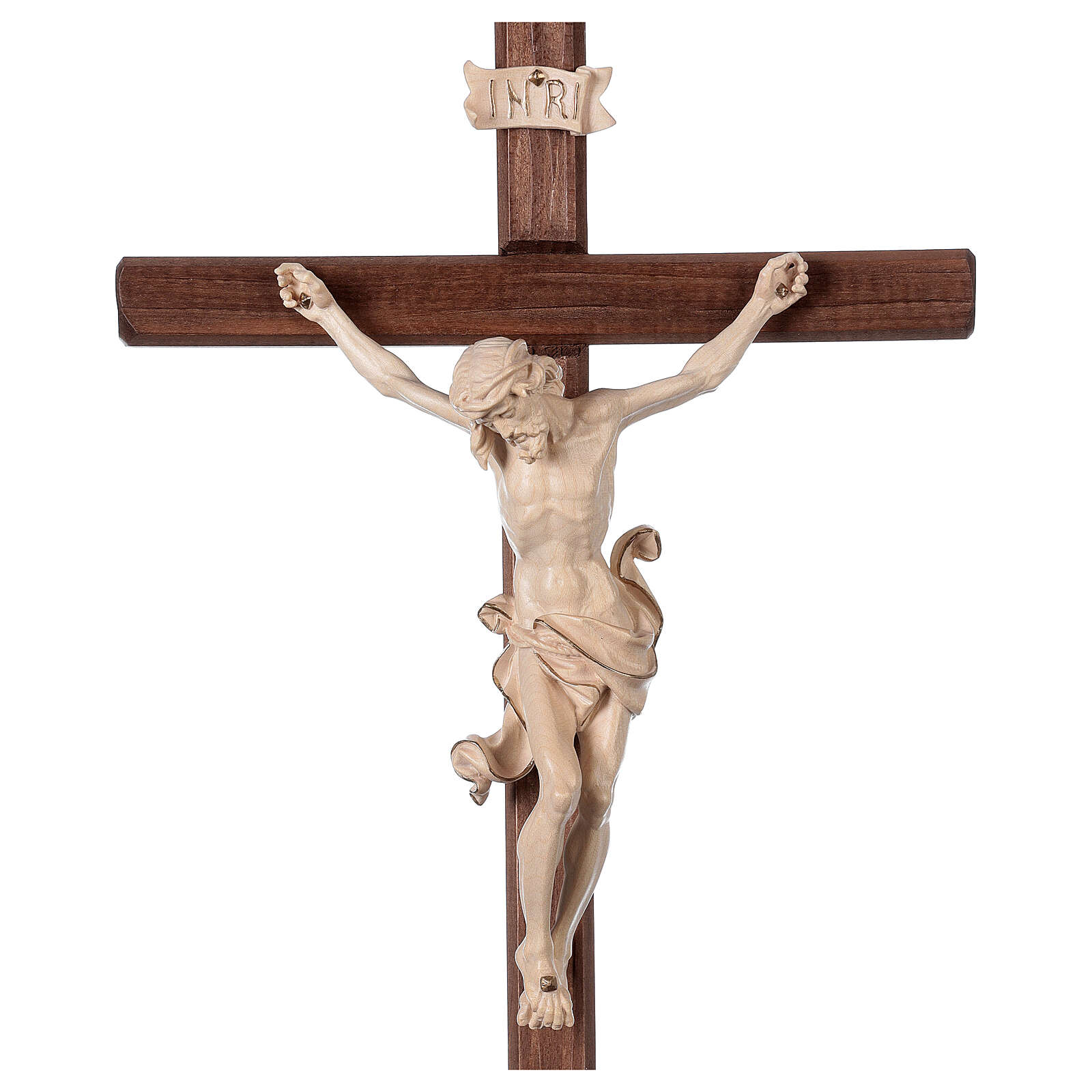Leonardo crucifix with cross and base in wax and gold thread 4