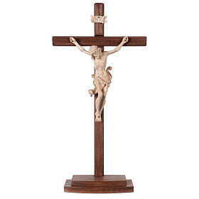 Leonardo crucifix with cross and base in wax and gold thread s1