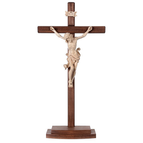 Leonardo crucifix with cross and base in wax and gold thread 1