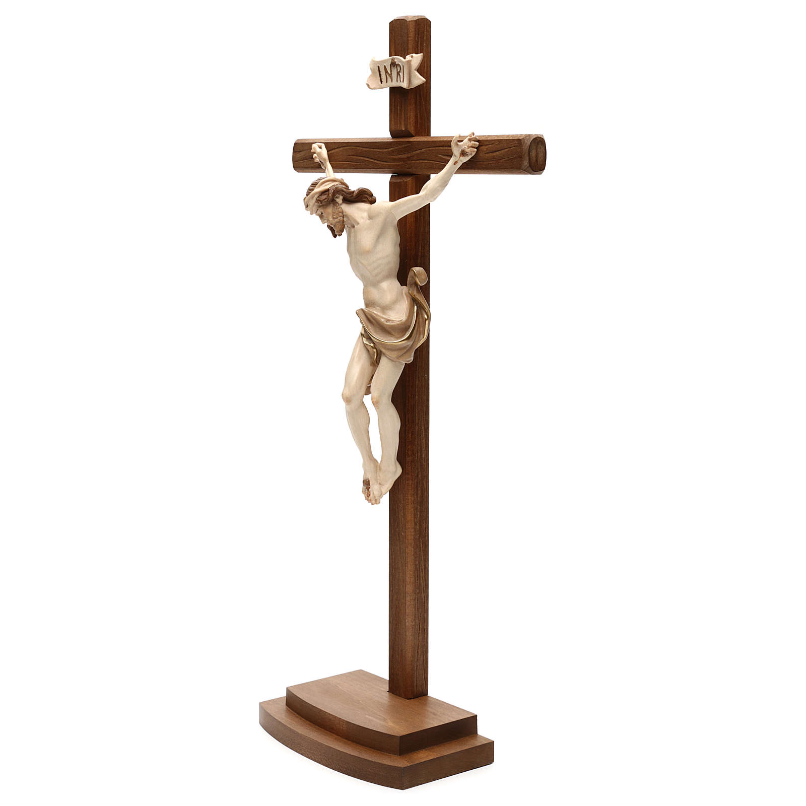 Leonardo crucifix with cross and base burnished in 3 colours 4