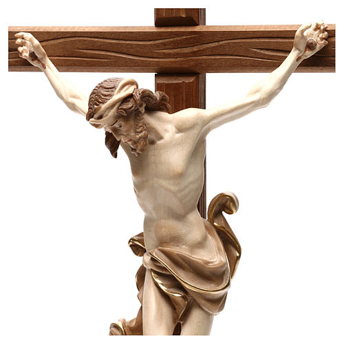 Leonardo crucifix with cross and base burnished in 3 colours 2