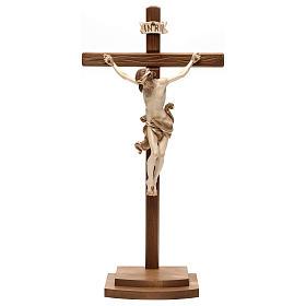 Crucifix Léonard croix avec base bruni 3 tons s1