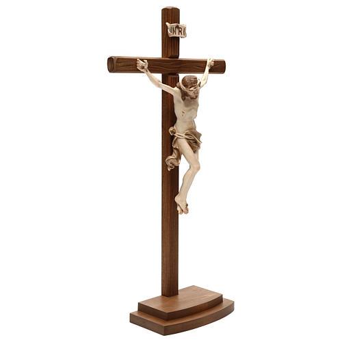 Crucifix Léonard croix avec base bruni 3 tons 4