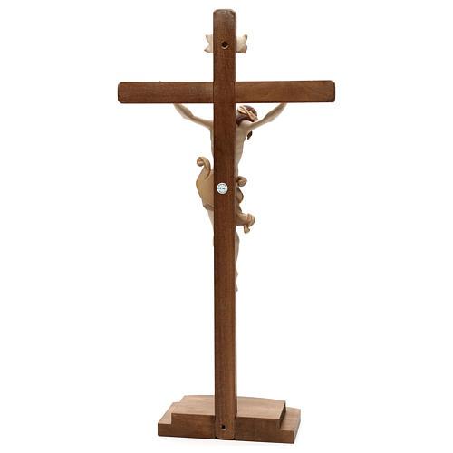 Crucifix Léonard croix avec base bruni 3 tons 5