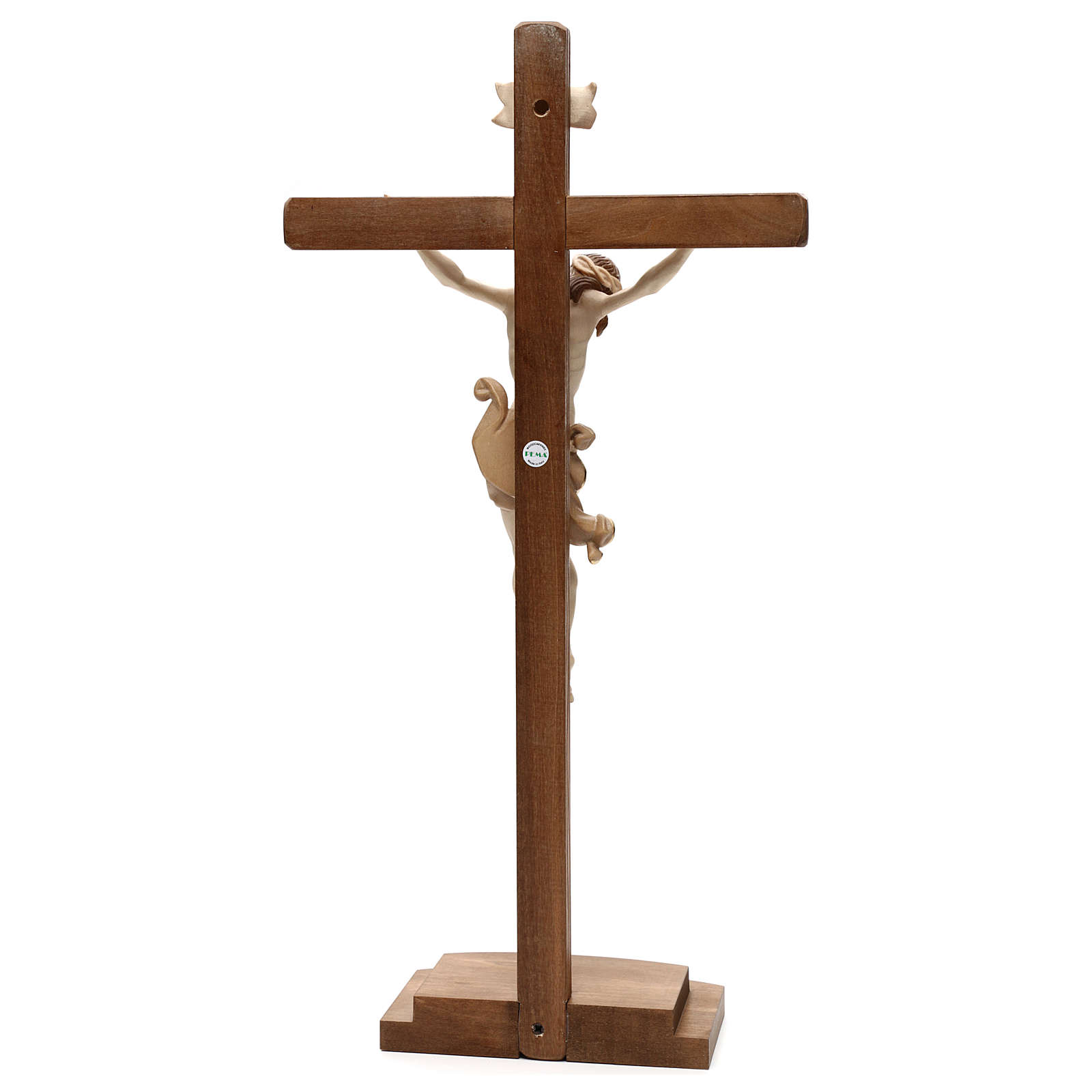 Crocefisso Leonardo croce con base brunito 3 colori 4