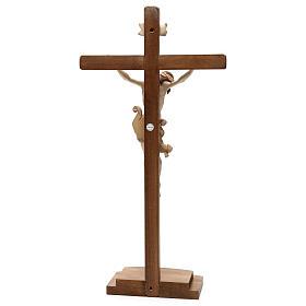 Crucifixo Leonardo cruz com base brunido 3 tons s5