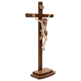 Leonardo crucifix with cross and base burnished in 3 colours s4