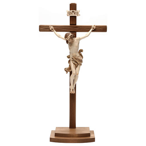 Leonardo crucifix with cross and base burnished in 3 colours 1