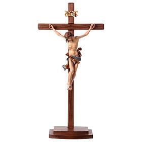 Crucifijo coloreado Leonardo cruz con base s1