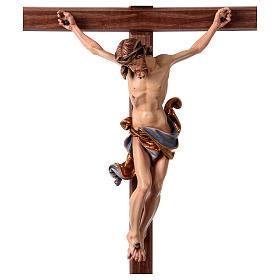 Crucifijo coloreado Leonardo cruz con base s2