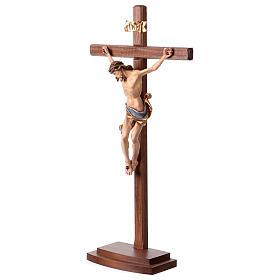 Crucifijo coloreado Leonardo cruz con base s4