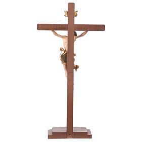 Crucifijo coloreado Leonardo cruz con base s6