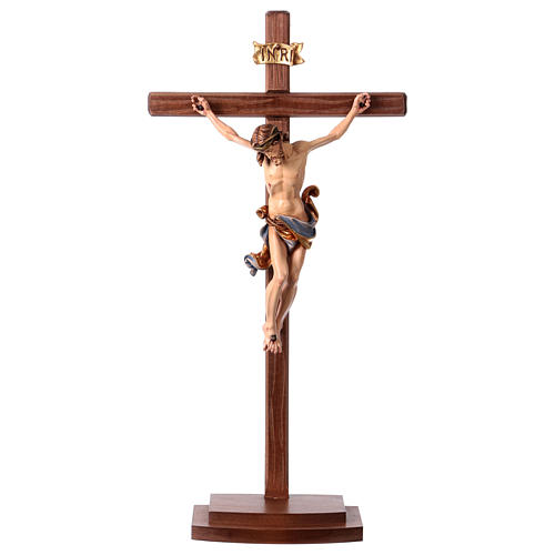 Crucifijo coloreado Leonardo cruz con base 1
