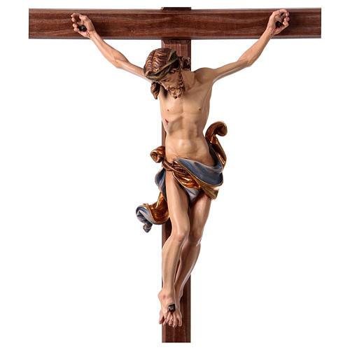 Crucifijo coloreado Leonardo cruz con base 2