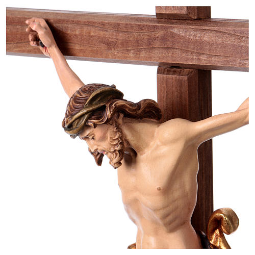Crucifijo coloreado Leonardo cruz con base 3