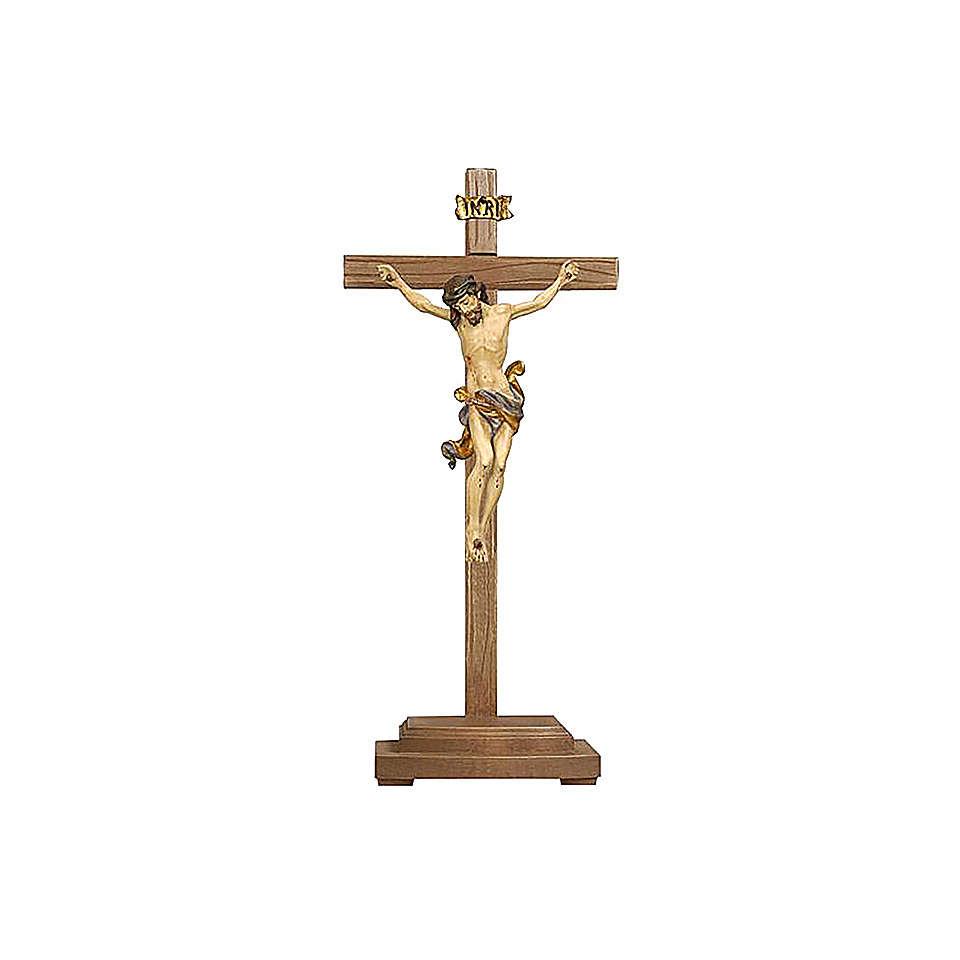 Crocefisso Leonardo oro zecchino antico croce con base 4
