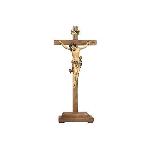 Crocefisso Leonardo oro zecchino antico croce con base 1
