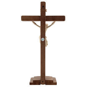 Jesus Christ on crucifix Siena model in natural wood with base s4