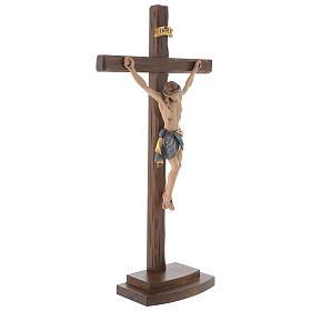 Crucifijo coloreado Cristo Siena cruz con base s4