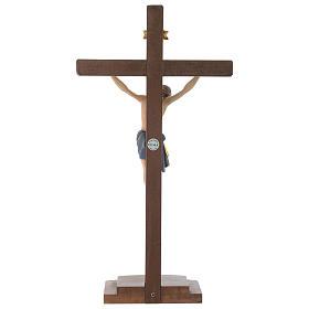 Crucifijo coloreado Cristo Siena cruz con base s5