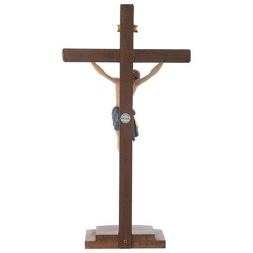 Crucifijo coloreado Cristo Siena cruz con base 5