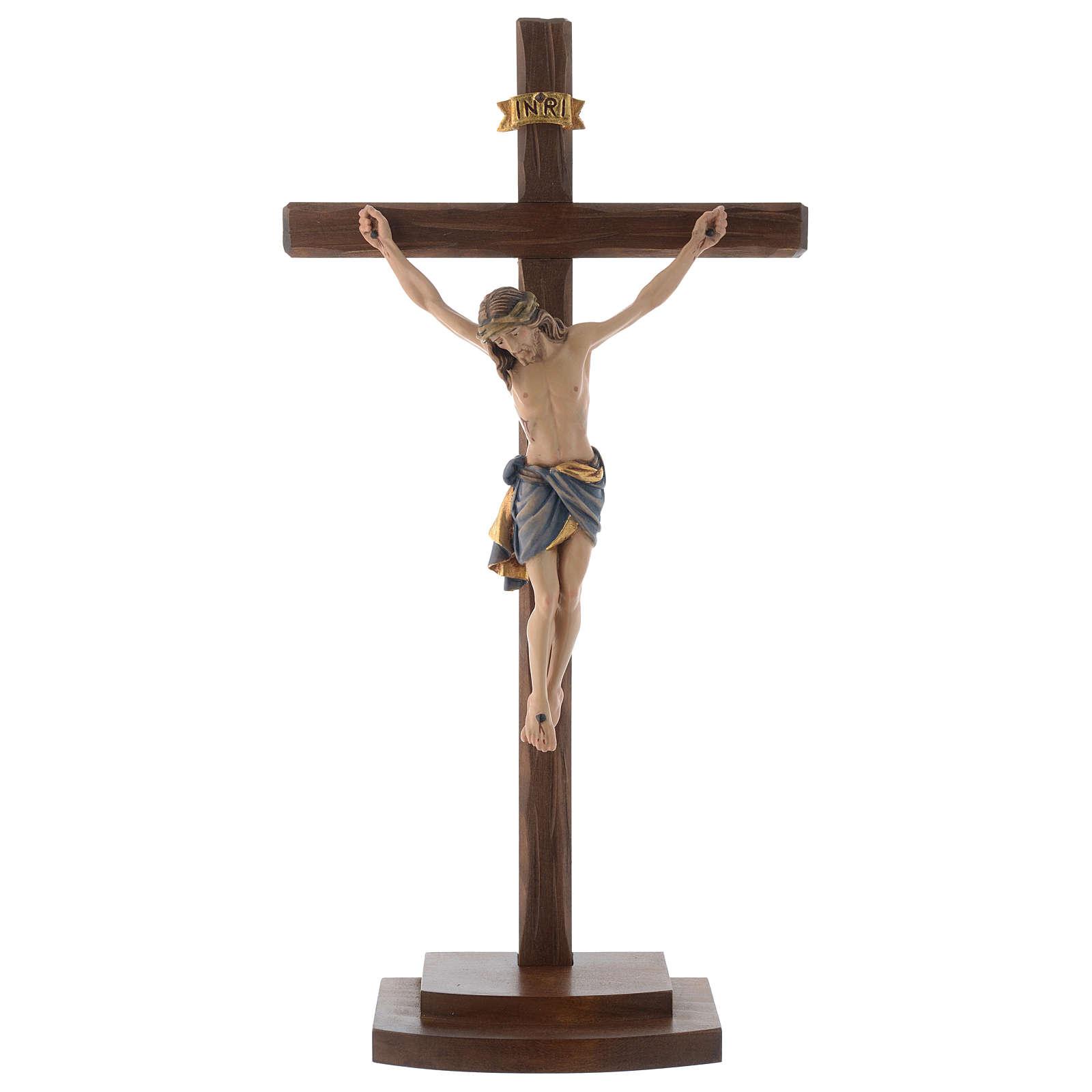 Crucifix coloré Christ Sienne croix avec base 4
