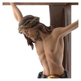 Crucifix coloré Christ Sienne croix avec base s2