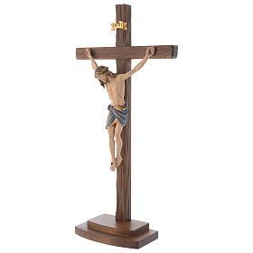 Crucifix coloré Christ Sienne croix avec base s3