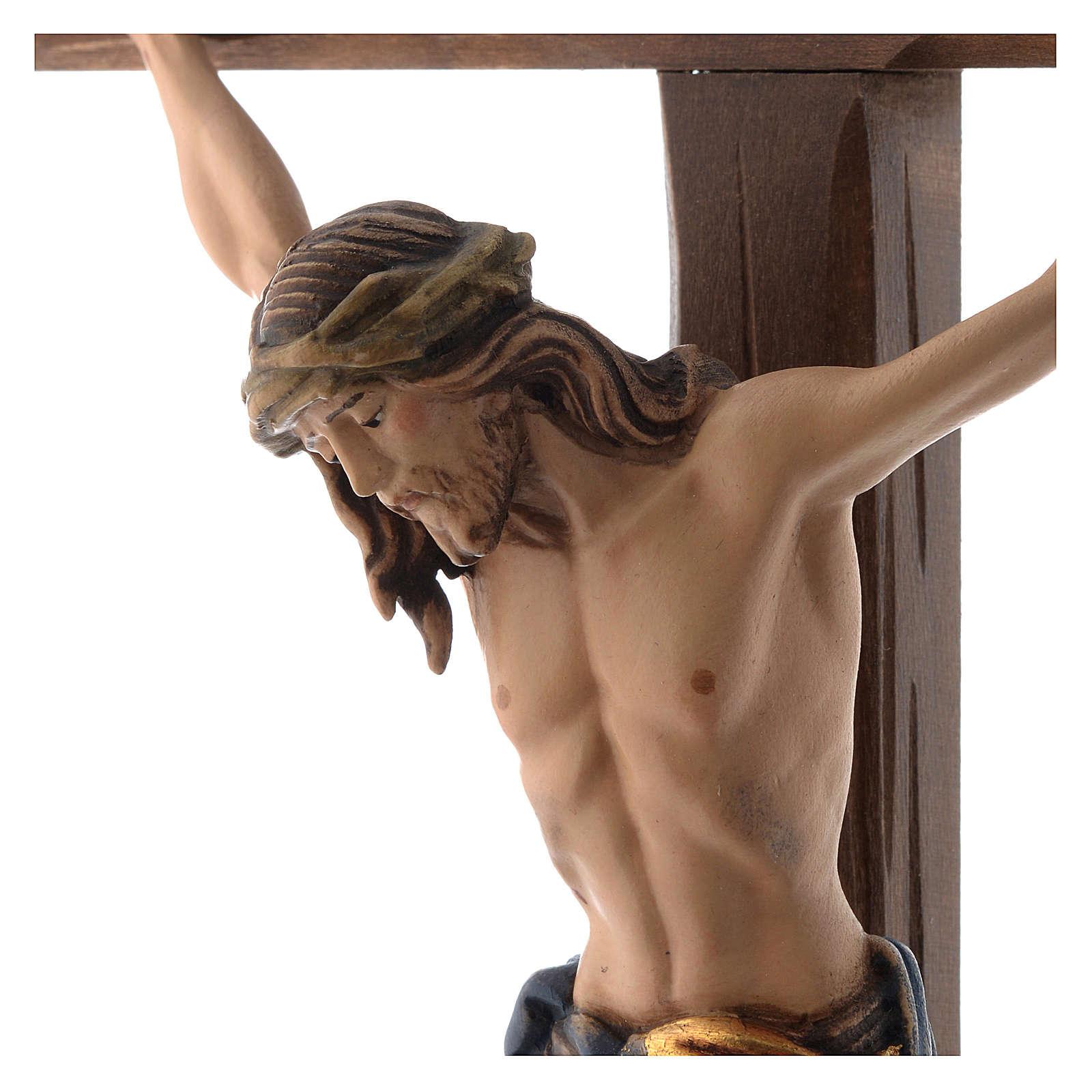 Crocefisso colorato Cristo Siena croce con base 4