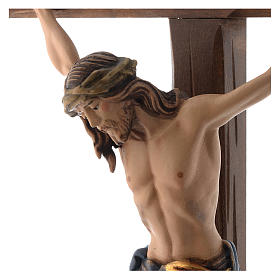 Crocefisso colorato Cristo Siena croce con base s2