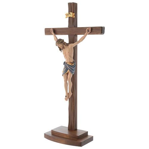 Crocefisso colorato Cristo Siena croce con base 3