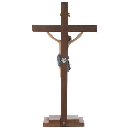 Crocefisso colorato Cristo Siena croce con base 5
