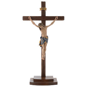 Jesus Christ on crucifix Siena model with base s1