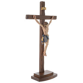 Jesus Christ on crucifix Siena model with base s4