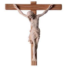 Crucifix in natural wood with Jesus Christ statue Siena model s2