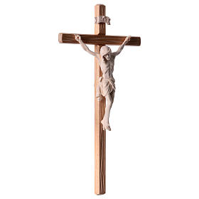Crucifix in natural wood with Jesus Christ statue Siena model s4