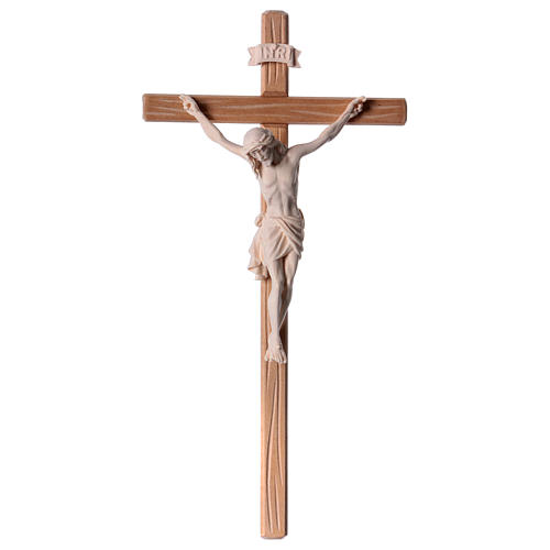 Crucifix in natural wood with Jesus Christ statue Siena model 1