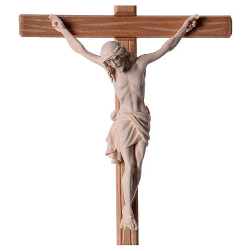 Crucifix in natural wood with Jesus Christ statue Siena model 2