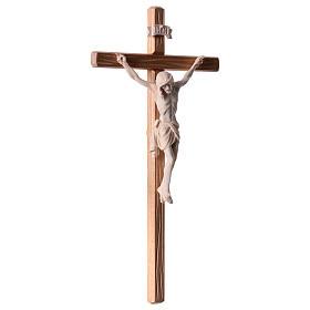 Crocefisso legno naturale Cristo Siena  s4
