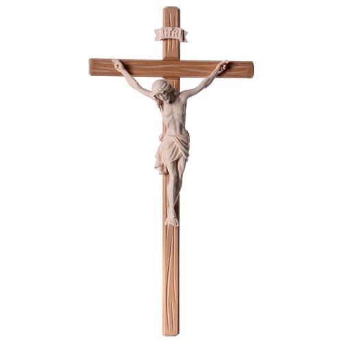 Crocefisso legno naturale Cristo Siena  1