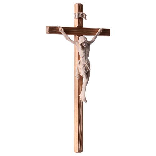 Crocefisso legno naturale Cristo Siena  4