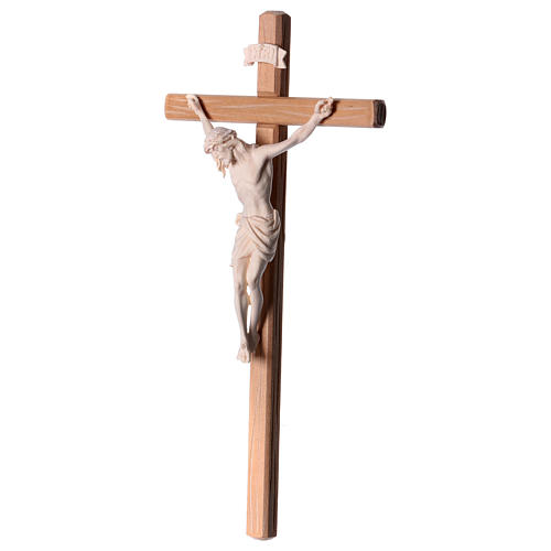 Crucifix in natural wood with Jesus Christ statue Siena model 3