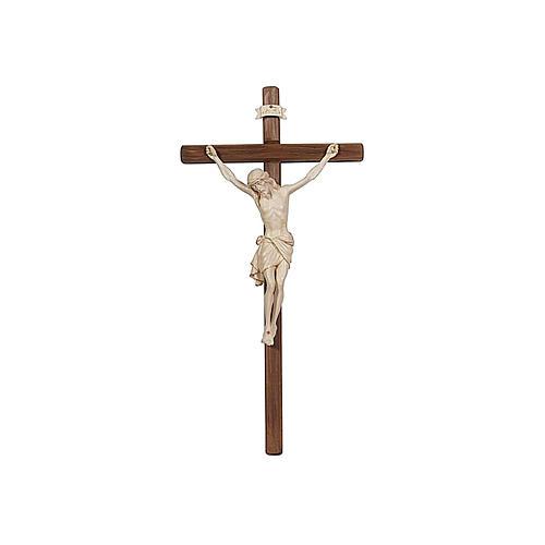 Crucifix croix droite Christ Sienne cire fil or 1