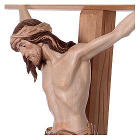 Crucifijo bruñido 3 colores Cristo Siena cruz recta s4
