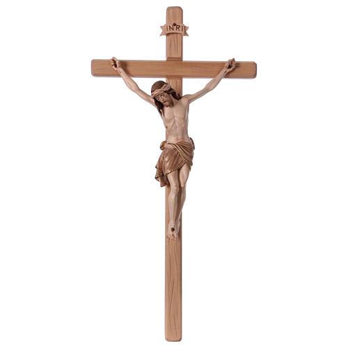 Crucifijo bruñido 3 colores Cristo Siena cruz recta 1