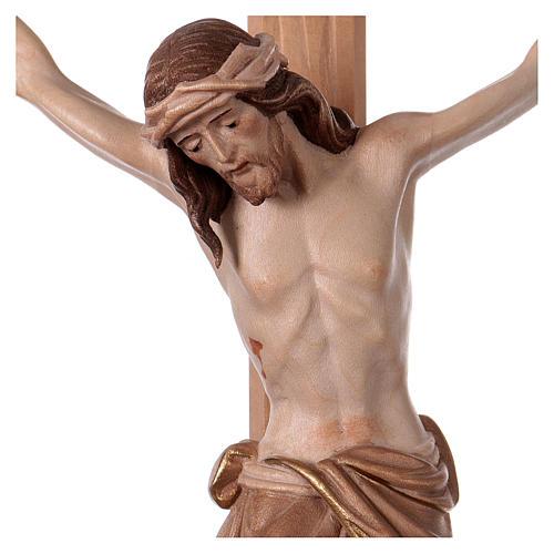 Crucifijo bruñido 3 colores Cristo Siena cruz recta 2